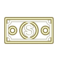 Neon money bill icon vector