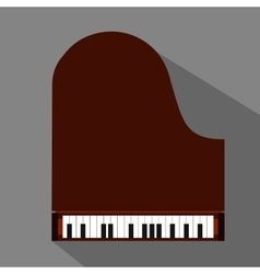 Piano flat icon vector image