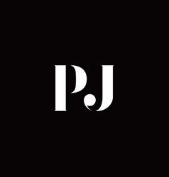 Pj logo letter initial logo designs template vector
