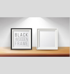 Realistic blank picture frame set good for vector