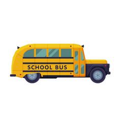 retro yellow school bus back to school concept vector image