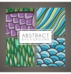 Set four colorful intricate patterns vector
