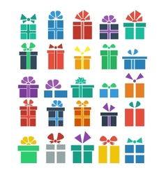 set of gift vector image