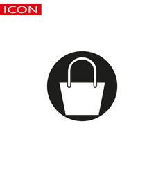 shopping bag icon in trendy flat design vector image