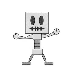 skull game character vector image