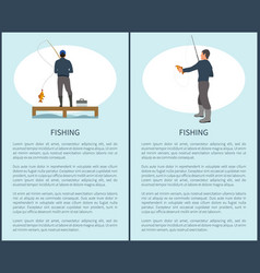 Sportfisherman with fishing gear and fish catch vector