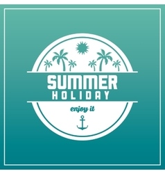 Summer design palm tree over circle icon vector
