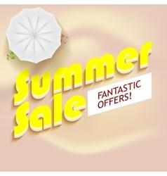 Summer sale background vector