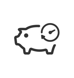 Term deposit icon vector