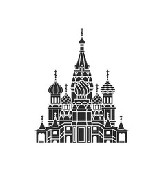 The most famous cathedral in moscow vector