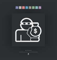 thief icon vector image