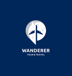 Travel tourism agency logo design vector