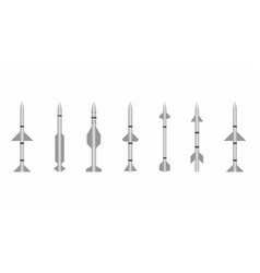 types of missiles vector image