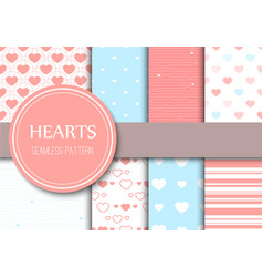 Valentines day hearts seamless pattern background vector