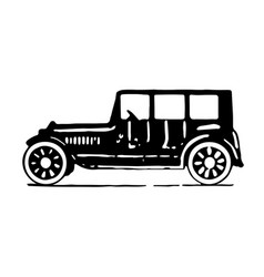 Vintage old car side view vector