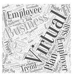 Virtual Employees Word Cloud Concept vector