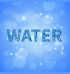 water drops realistic background vector image