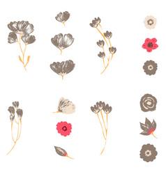 Watercolor design element bird banners vector