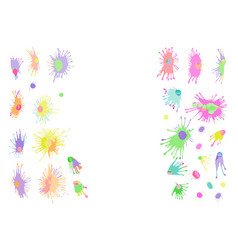 Watercolor stains splashes and drops vector