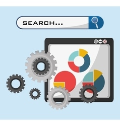 Web page technolgy search gear graph economy vector