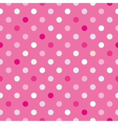 Colorful tile background pink polka dots wallpaper vector image vector image