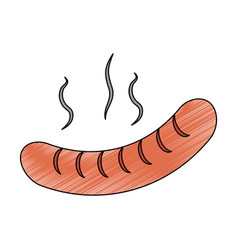 delicious sausages food vector image