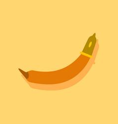 Flat icon design condom on banana in sticker style vector