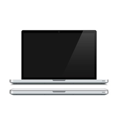 White laptop closed and opened vector image