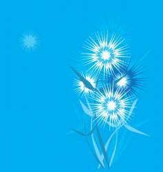 dandelion stylized vector image vector image