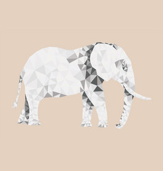 polygonal elephant pattern vector image vector image