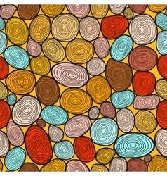 Seamless circles hand-drawn pattern vector image