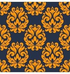 Seamless damask foliage tracery vector image vector image