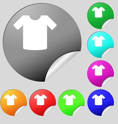 T-shirt Clothes icon sign Set of eight vector image