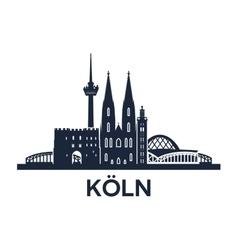 Cologne Skyline Emblem vector image vector image