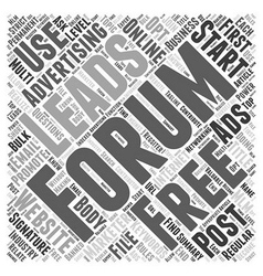 How to get free advertising using online forums vector image vector image