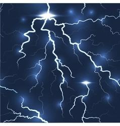 Lightning flash strike seamless dark background vector image vector image