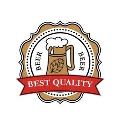 Retro brewery label vector image