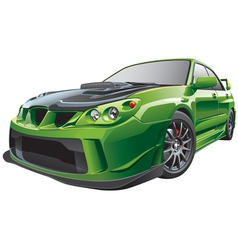green custom car vector image