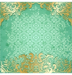 Luxury background with vintage frame and pattern vector image vector image