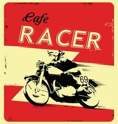 retro poster motorcycle vector image vector image