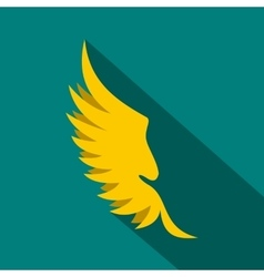 Wing icon in flat style vector image