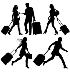 Airport travelers vector