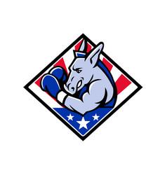 American donkey boxer usa mascot vector