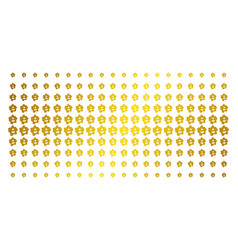 Amoeba gold halftone effect vector