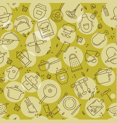 an original seamless pattern on the kitchen theme vector image