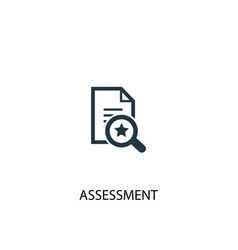 Assessment icon simple element vector