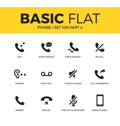 Basic set of phone icons vector