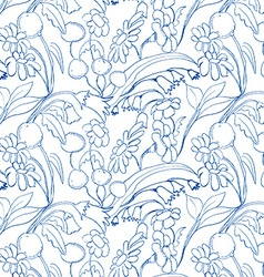 Beautiful floral abstraction Flower raster vector image