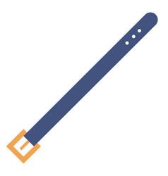 Blue belt flat vector