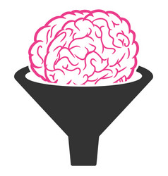 Brain filter icon vector